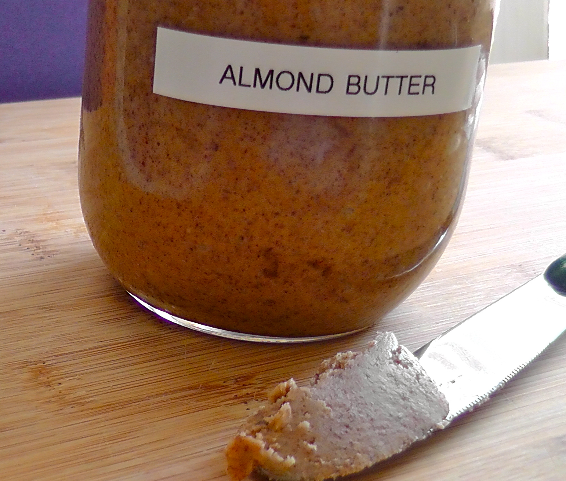 Now you have fresh homemade almond butter so make this recipe……..
