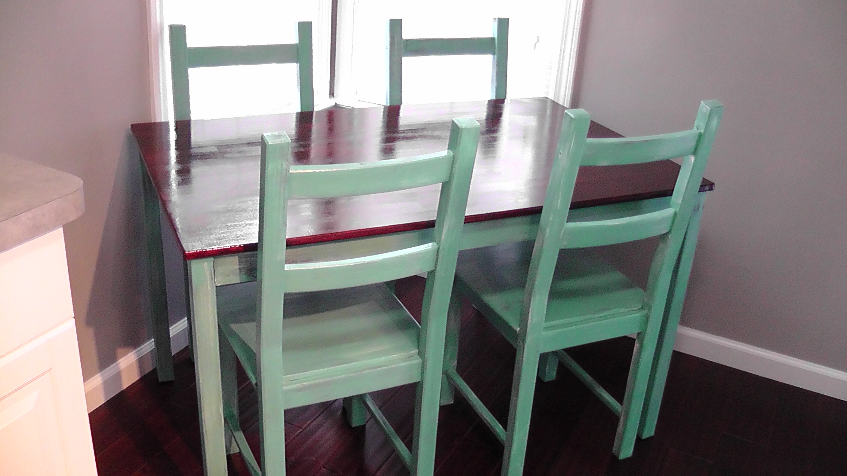 Paint A Kitchen Table My Kitchen Table Diy Tuturial Color Wheel Meals